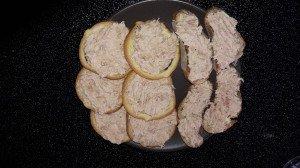 Toast aux rillettes de thon diététique